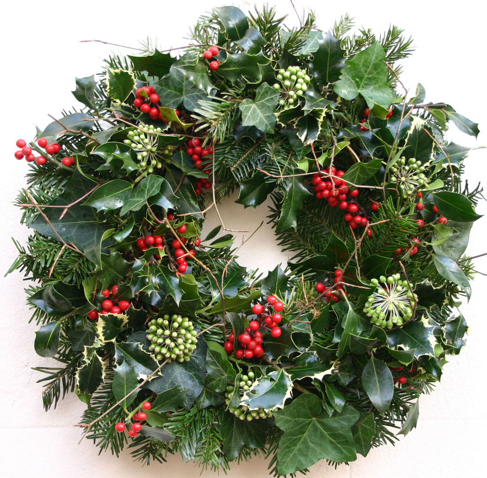 Fuchsia flower design brighton rustic christmas door wreaths in brighton - Admirable christmas wreath decorating ideas to welcome the december ...