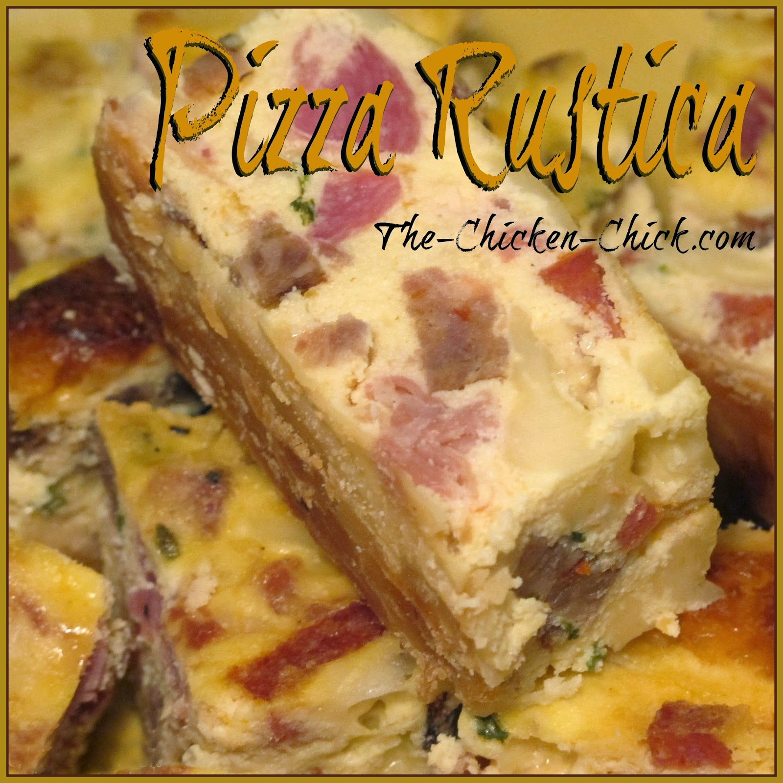 Pizza Rustica, aka: Pizzagaina or Pizza Gain