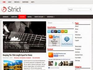 Strict - Free Wordpress Theme