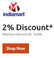 (Last Day) Indiamart : Get 2% Discount maximum discount Rs.10000 : buytoearn