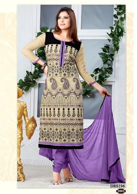 Buy New Design Chanderi Cotton Dress Material