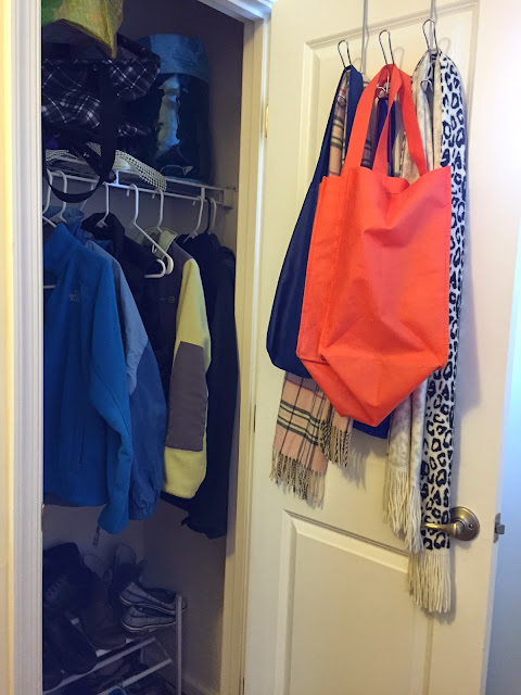 A closet hides everything you don't want guests to see.
