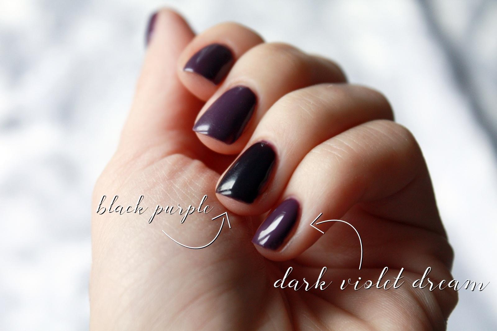 Semilac Dark Violet Dream czy Black Purple