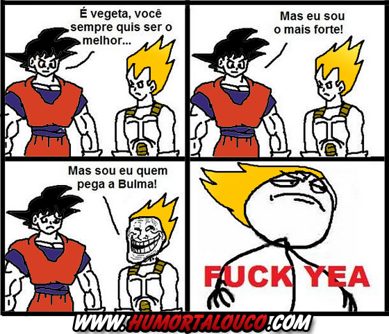 Tirinha: Goku Vs Vegeta
