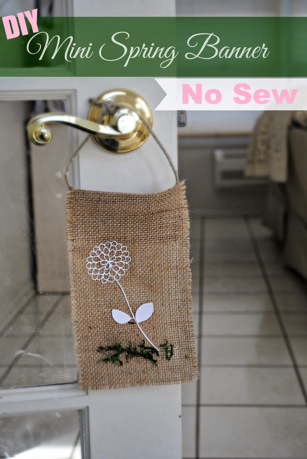 Two it yourself diy mini burlap spring banner no sew solutioingenieria Image collections