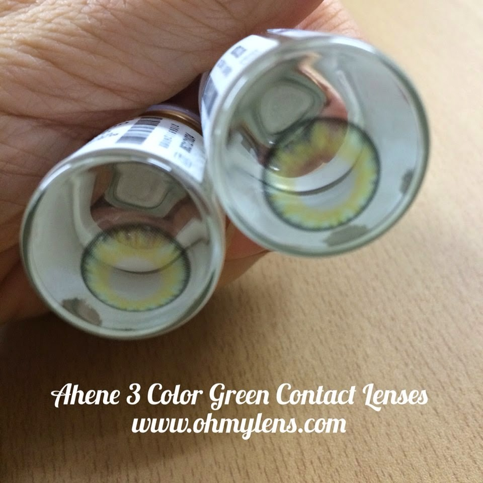 Ahene 3 Color Green Contact Lenses at ohmylens.com