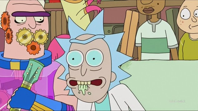 The tagline for season 2 of Rick and Morty should be 'We're back, bitch. With twice the drool.'