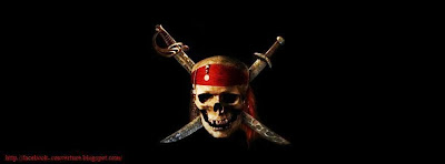 Couverture facebook tete de mort pirate
