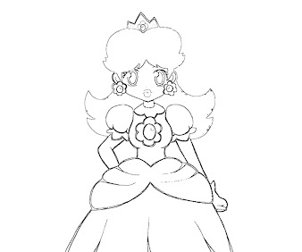 #9 Princess Daisy Coloring Page