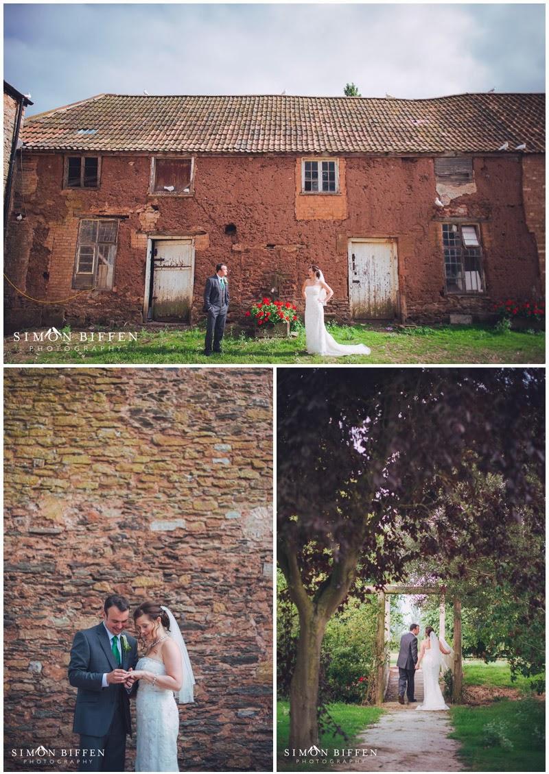 Maunsel House wedding Bride and Groom
