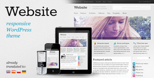 Image for Website – Responsive Theme by ThemeForest