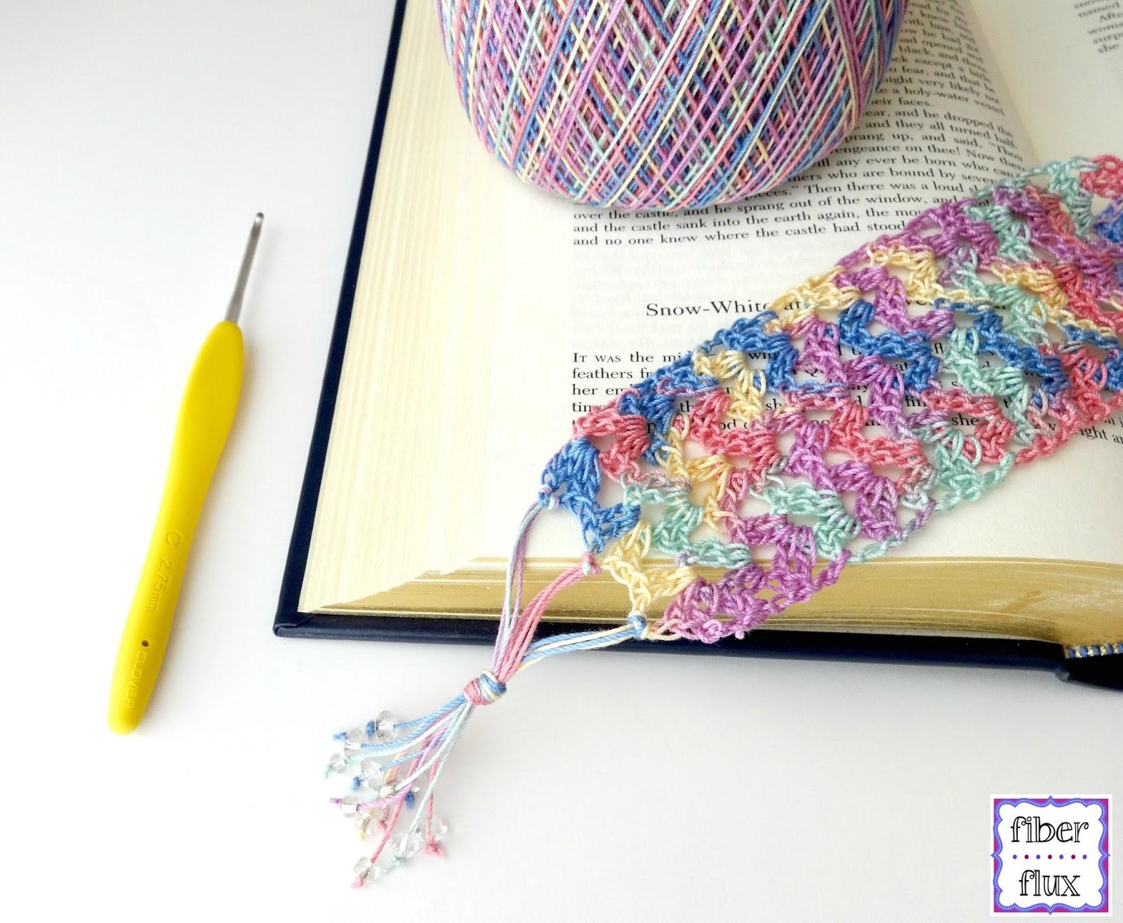 Crochet Patterns Reading : Fiber Flux: Free Crochet Pattern...Summer Reading Bookmark!