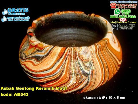 Asbak Gentong Keramik Motif