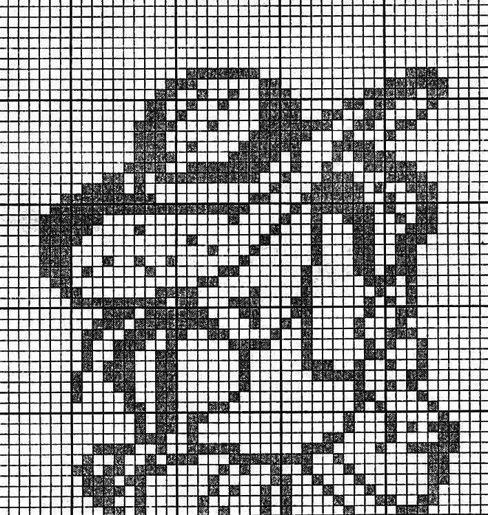 Филейное вязание для картин 994