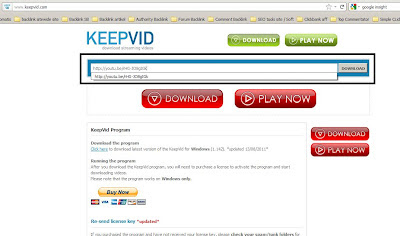 Cara Download Youtube dengan Keepvid