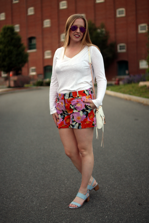 loft full bloom shorts, boston blogger, boston style blog