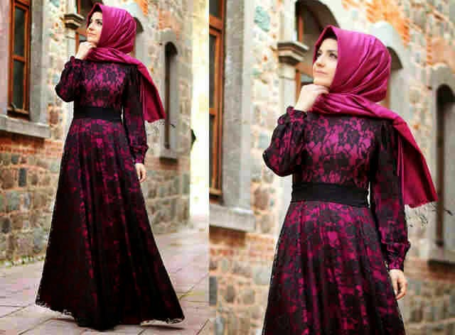 Model Baju Pesta Modern Muslimah Casual