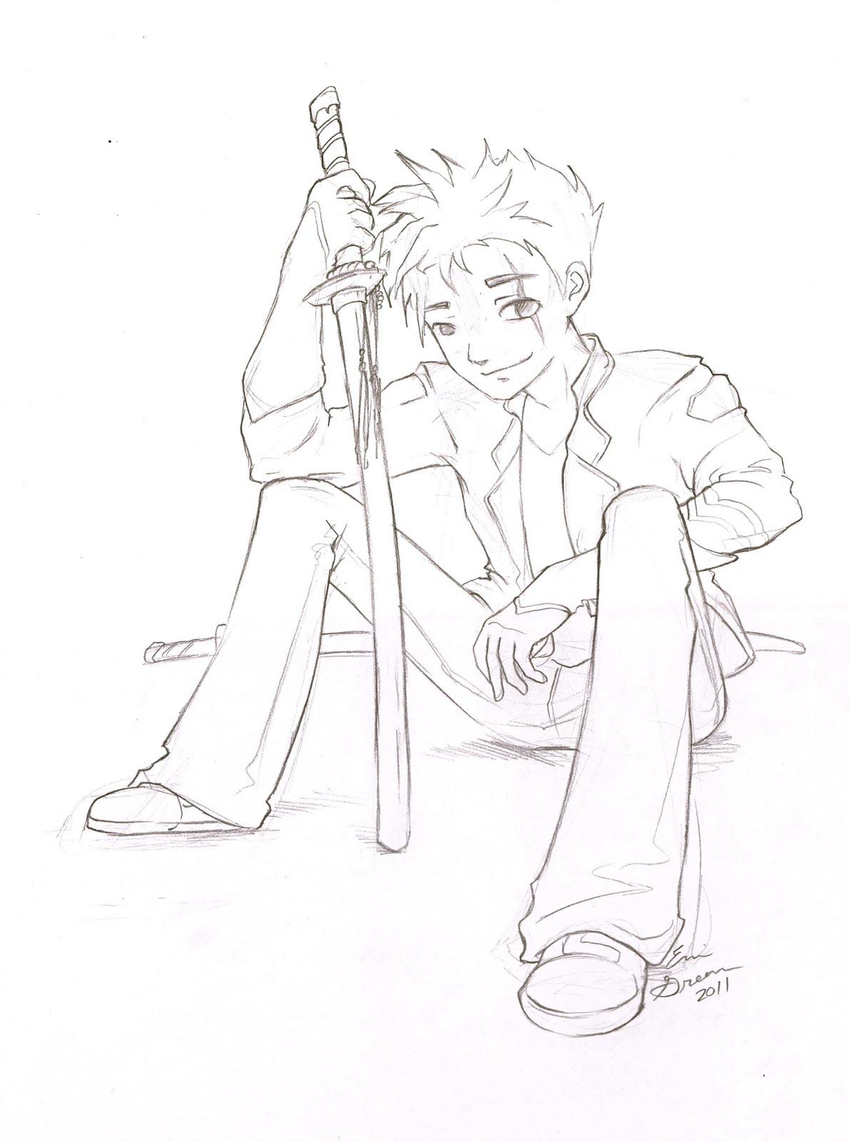anime boy outline body: Rabbit Gear: November 2011