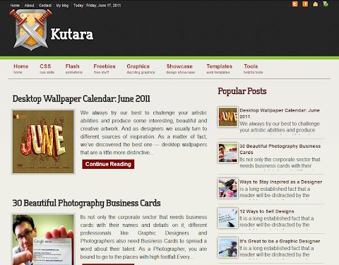 Kutara Blogger Theme