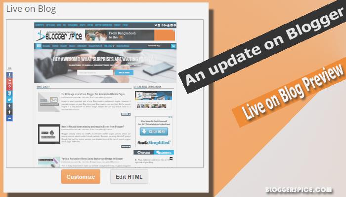 Live on Blog