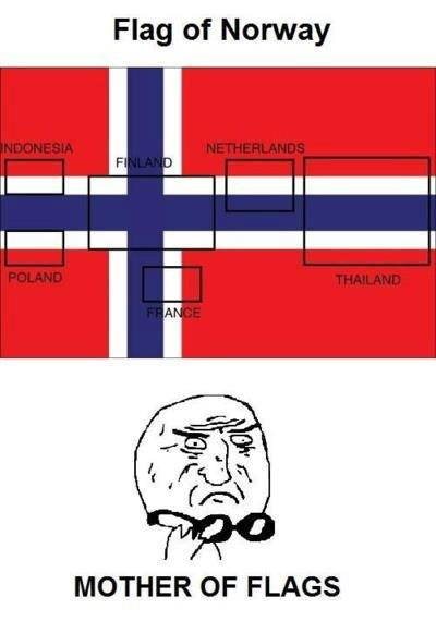 Flag of Norway (Mother of many flags)