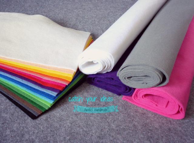kolorowy filc, filc, felt, rainbow felt, hobby, handmade