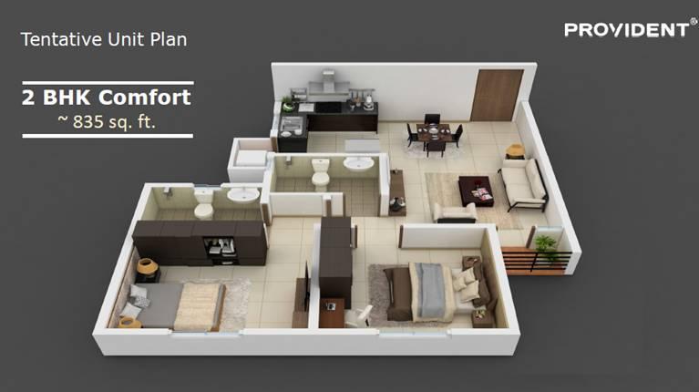 Provident Rising City 2 BHK Comfort