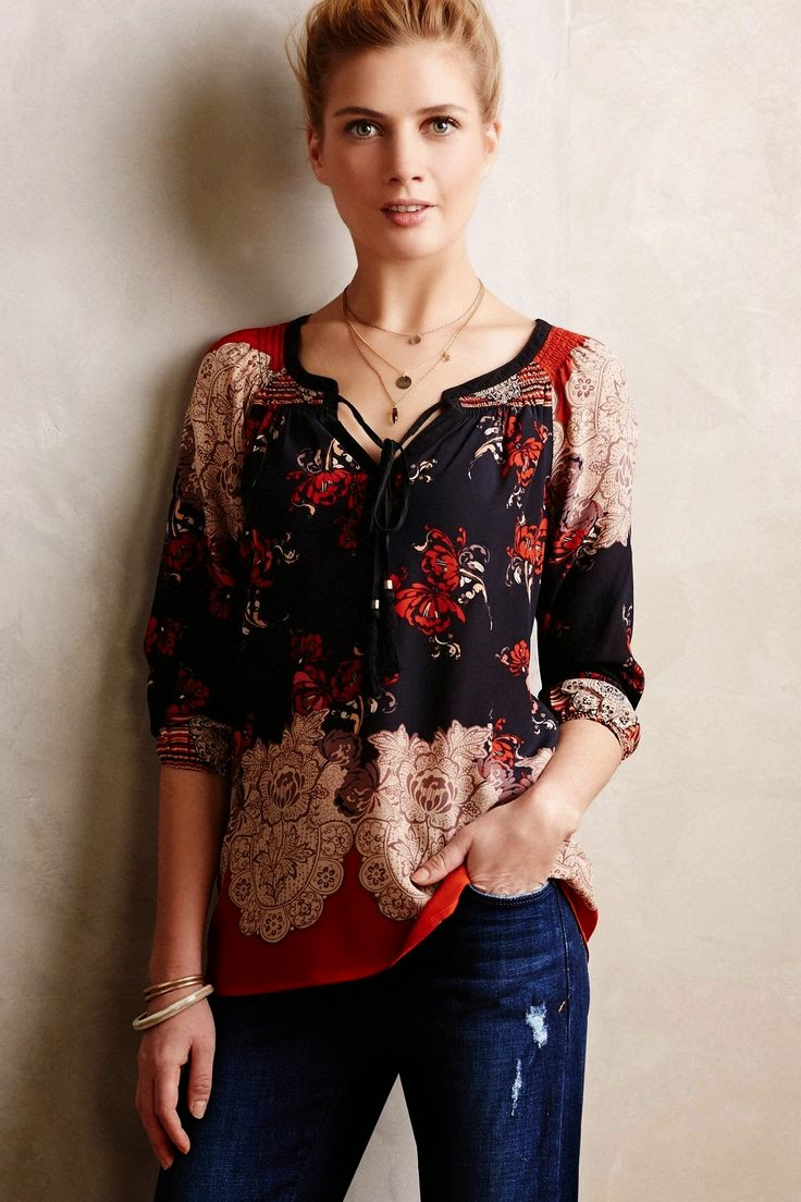 Anthropologie Blushed Lace Blouse 16