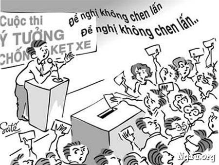Biếm họa cuộc thi ý tưởng chống kẹt xe
