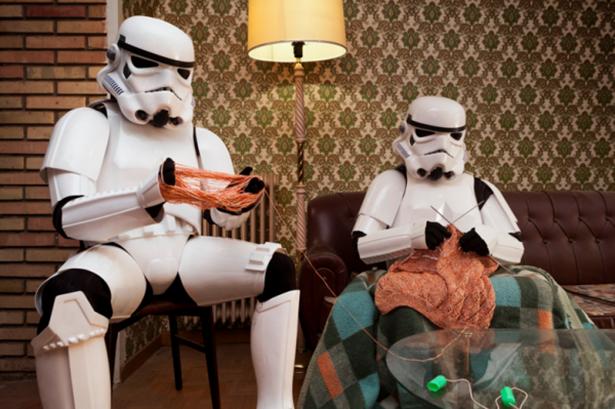 Stormtroopers vivendo sias vidas normais