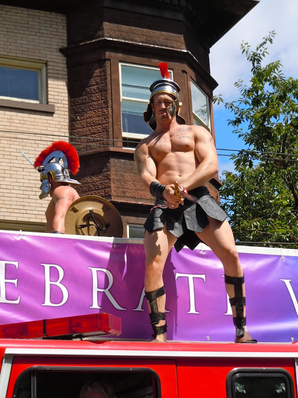 Vancouver Pride Parade Trojan stud