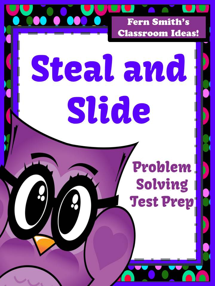 Steal and Slide Test Prep Presentation and Printable - Subtraction by Fern Smith's Classroom Ideas