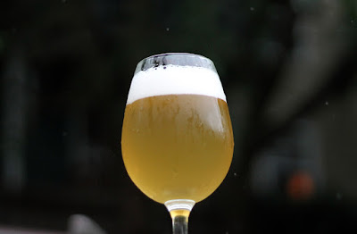 Risked my camera out in the rain for this shot of my Alsatian Saison!