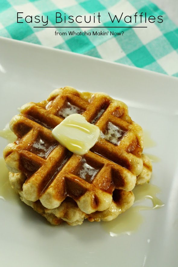 Easy Biscuit Waffles using a tube of biscuits!