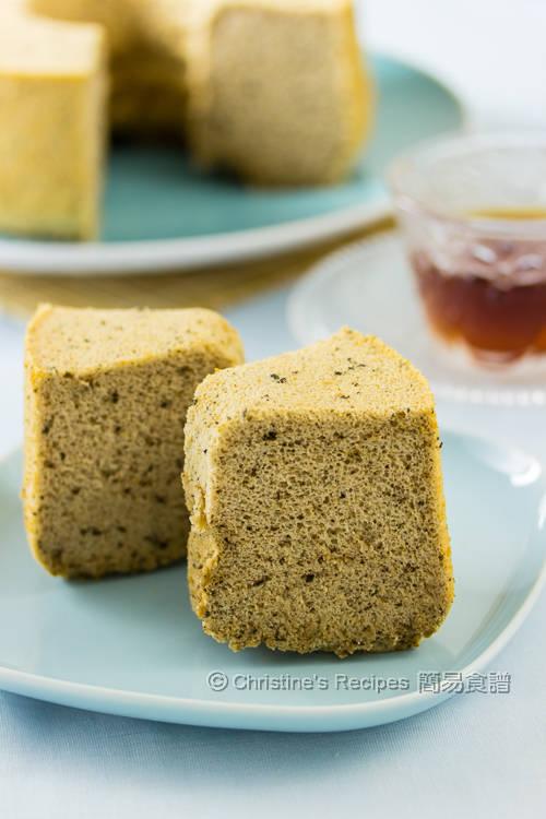 伯爵茶戚風蛋糕【茶香軟綿】 Earl Grey Tea Chiffon Cake