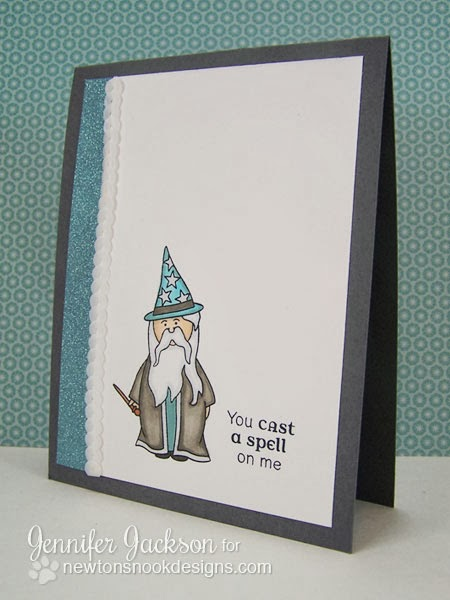 Wizard card using Magical Dreams Stamps by Newton's Nook Designs