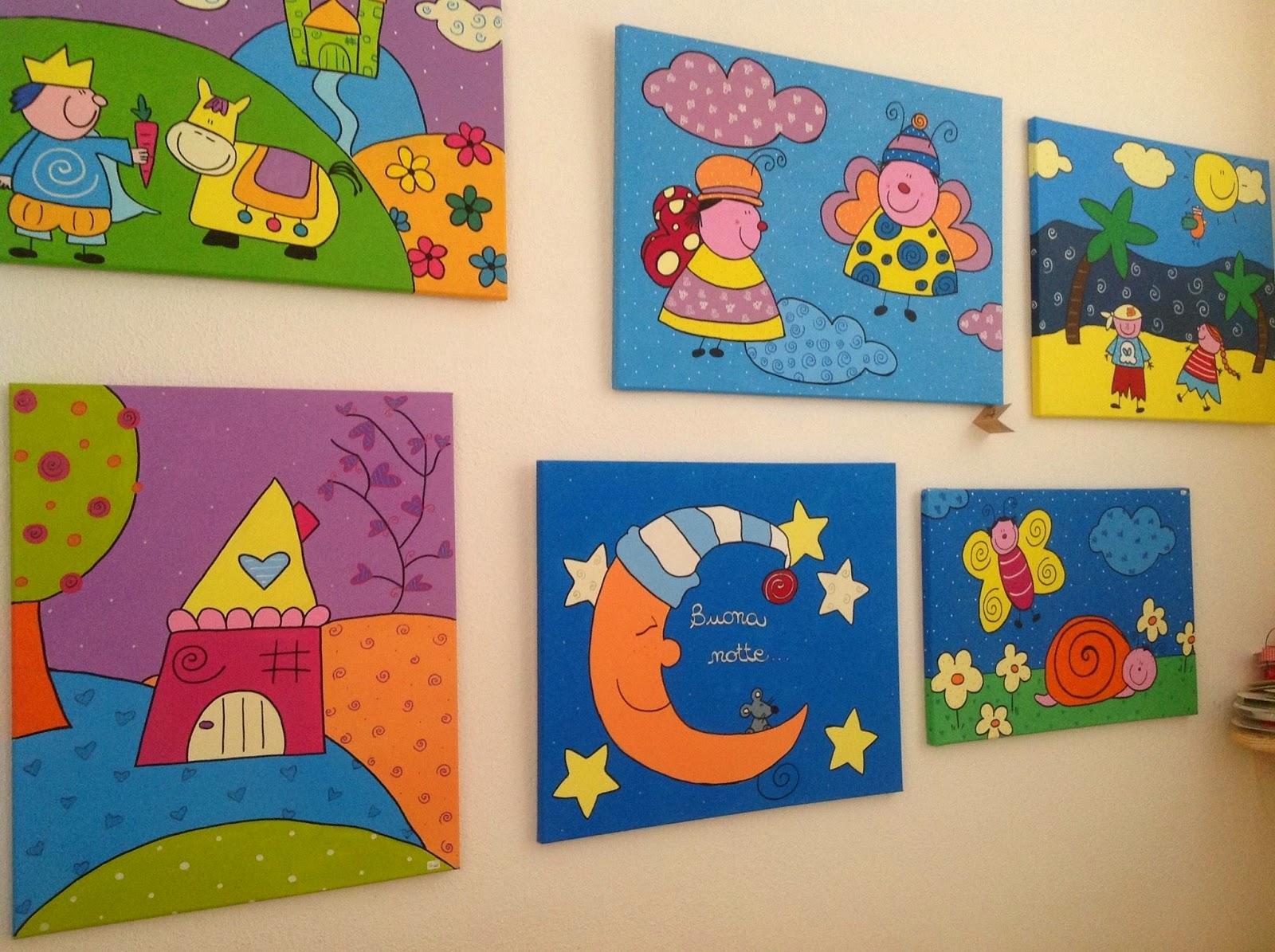 La bottega della strega colori e pennelli i quadri per - Quadri per cameretta bambini ...