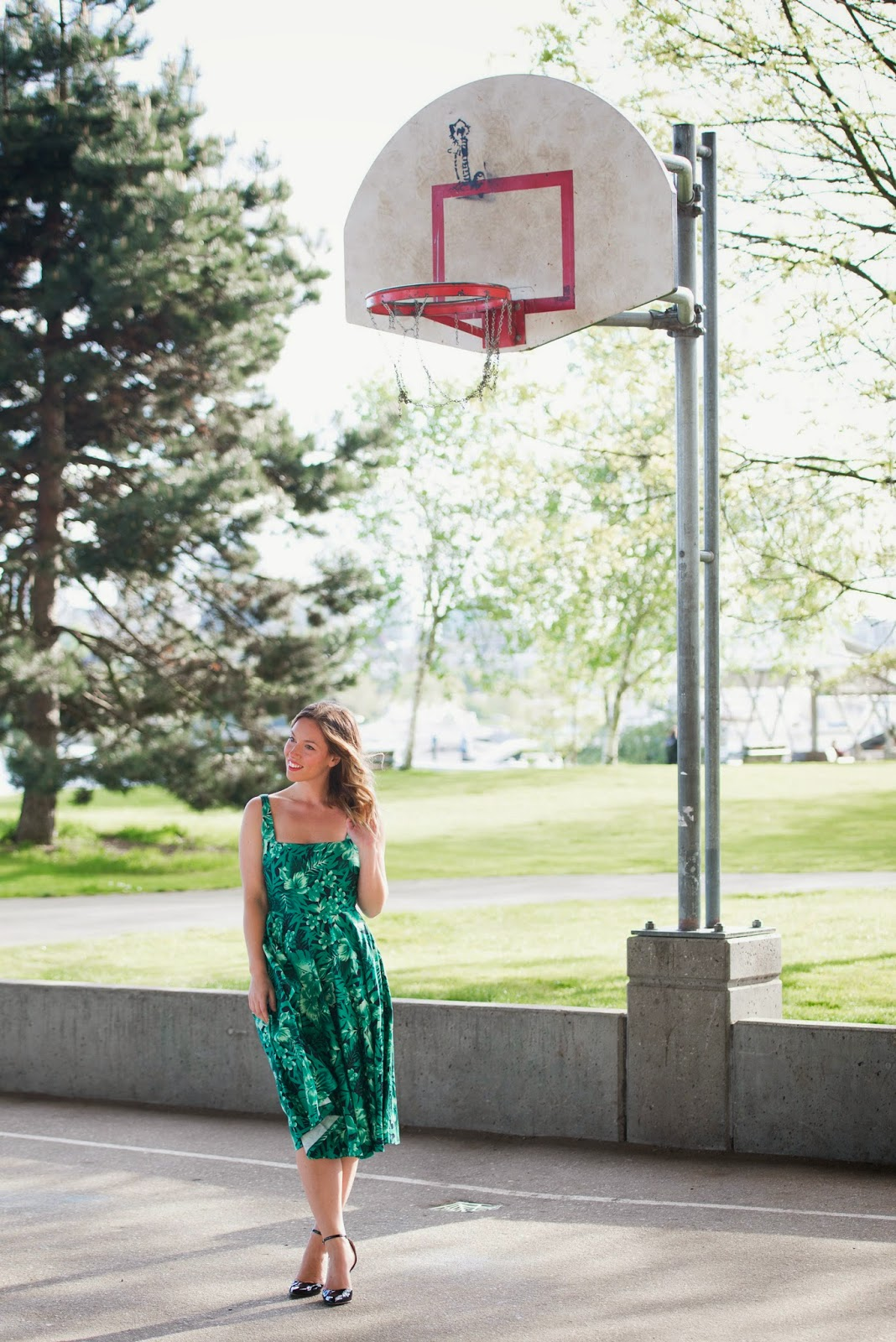 to vogue or bust, vancouver style blog, vancouver fashion blog, canadian fashion blog, zara tropical green printed dress, sole society heels, christie graham photography, bleed for fashion, glitter guide, tonal dressing, best style blog, best fashion blog, top vancouver blog