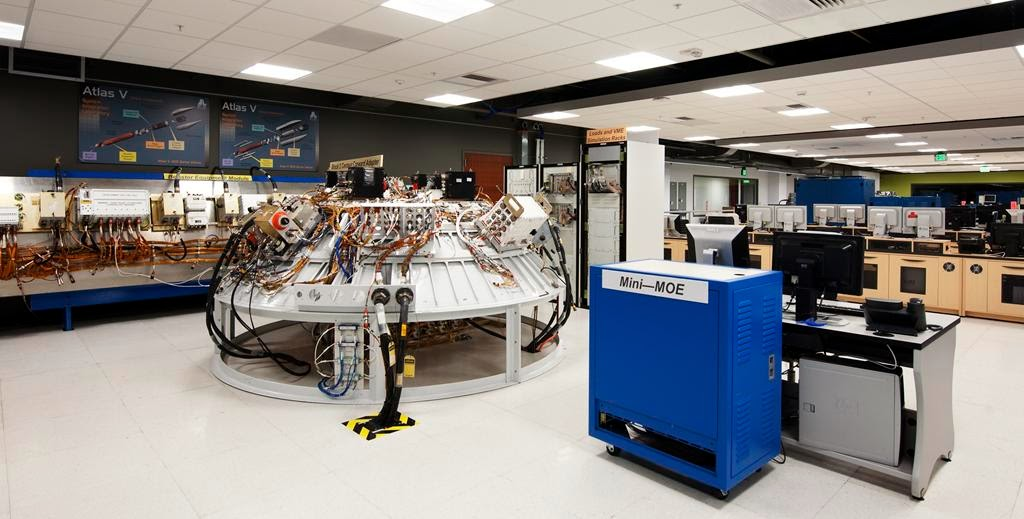 A portion of the CST-100 spacecraft's integrated system testing is shown during testing at United Launch Alliance's System Integration Lab. Photo credit: ULA photo