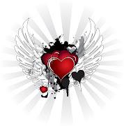Corazones con alas corazones con alas rayos