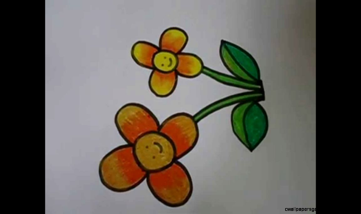easy drawing for kidsflower drawing in simple steps   YouTube