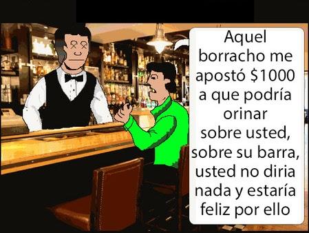 chiste borracho en un bar
