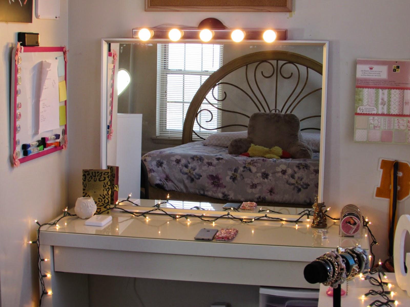Beauty By Genecia: DIY Hollywood Vanity Light Mirror DIY Room Decor Easy, Cheap, & NO DRILLING!