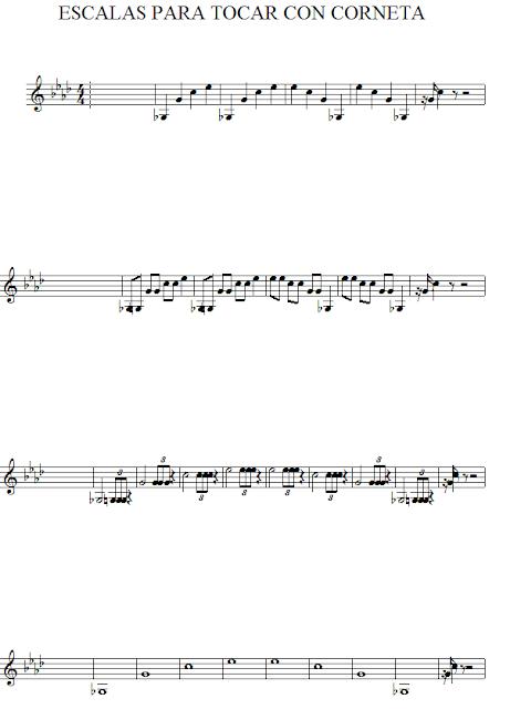 escalas corneta
