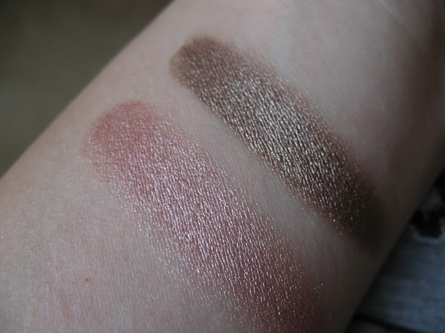 Swatch Maybelline Color Tattoo 24Hr Pink Gold and On and On Bronze