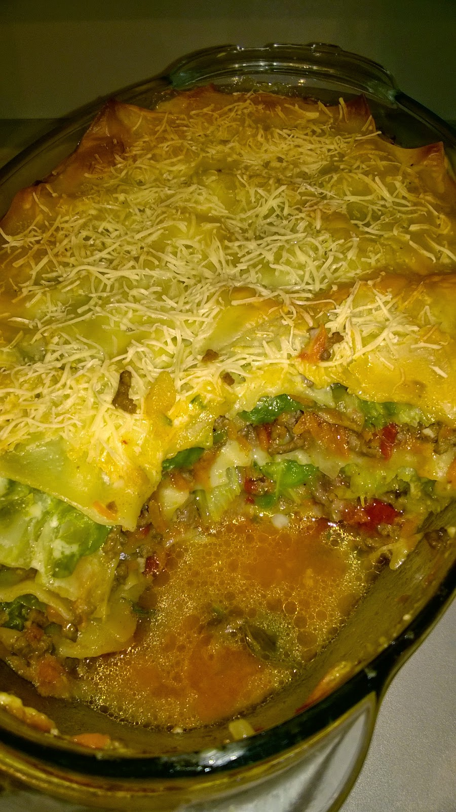 Lasagne de chou vert