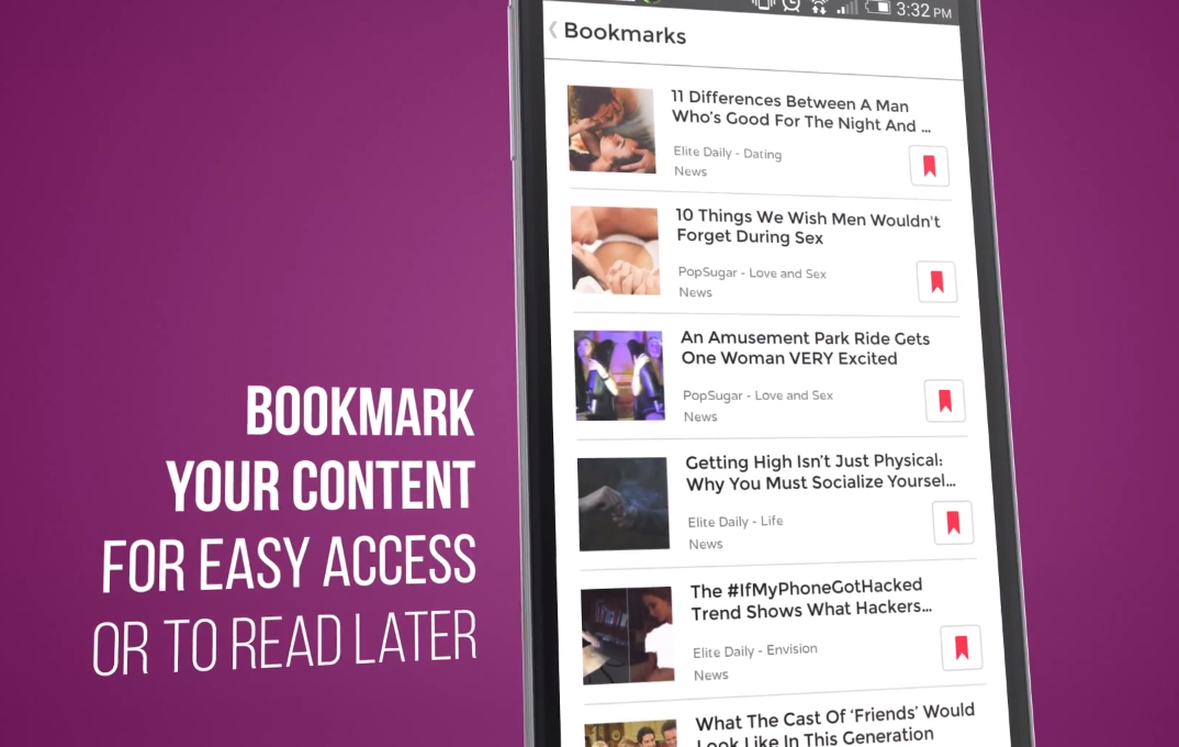 Contents can be bookmarked for easy access