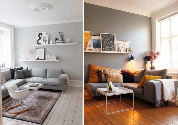 Observa y decora muebles atemporales Sofas grises decoracion