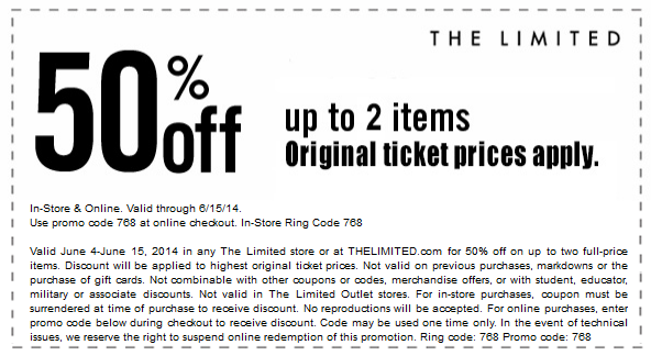 Ltd coupon codes
