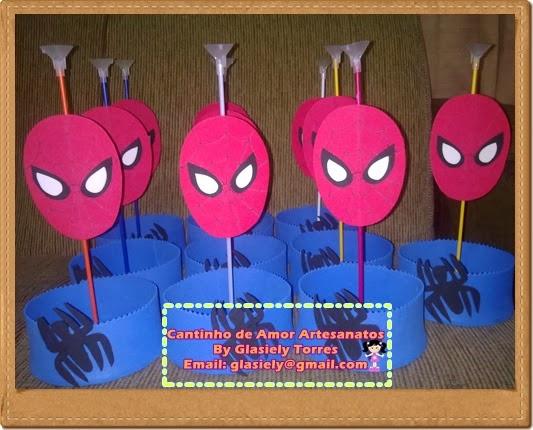 Cantinho de Amor Enfeites de mesa do Homem aranha -> Enfeites De Mesa Do Homem Aranha